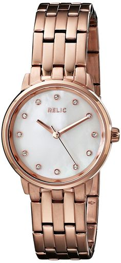 Relic Women's Small Perla Rose Gold Watch >>> Check this awesome product by going to the link at the image. Relic Watches, Fossil Watches, Authentic Watches, Mother Pearl, Watches Online, Watch Brands, Gold Watch, Watches For Men, Quartz