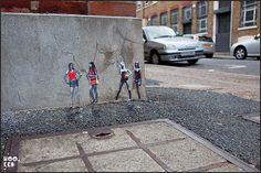 Pablo Delgado - Miniature Street Art  #streetart #delgado