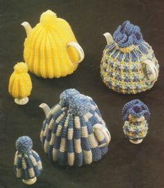 Knitting Pattern Tea & Egg Cosies cosy cozy vintage