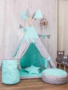 Diy Kids Teepee Tent Sleepover 53 Ideas For 2019 Diy Tipi, Diy Kids Teepee, Childrens Teepee, Kids Teepee Tent, Room Wall Painting, Shop Interiors, Sleepover, Play Houses, Girls Bedroom
