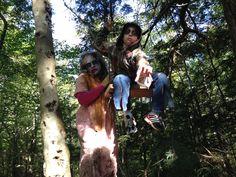 Mother and son Zombies, 5 KM Zombie Trail Run Waverley, Nova Scotia