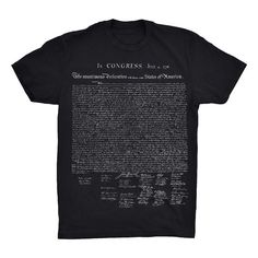 Declaration of Independence T-Shirt. Founding Fathers.