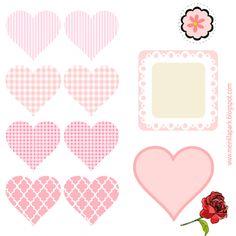 free digital heart scrapbooking embellishment + DIY tags - Herz Sticker - freebie   MeinLilaPark – DIY printables and downloads