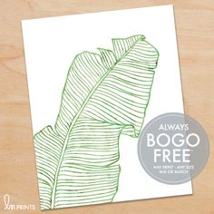 Tropical Palm Leaf Print or Canvas – Choose from 15 Watercolors – Available in 10 sizes