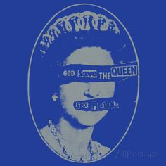 Sex Pistols- God Save the Queen, 1977 - Posters på AllPosters. God Save The Queen, Zen, Poster Prints, Art Prints, Cool Posters, Custom Framing, Online Printing, Coasters, Pistols