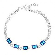 $5.20 Stylish Romantic Style Double-Deck Chain Shape Design Rhinestone Embellished Bracelet
