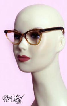 20ac4536add 1950 s Rhinestone Cat Glasses Frames Funky Glasses