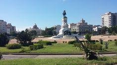 Monumento a Máximo Gómez junto al Malecón de La Habana, Cuba