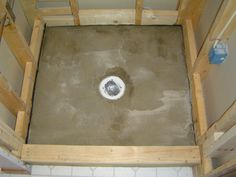 Learn how to install your own mortar shower pan for you tiled shower. See http://www.homeadditionplus.com/dev/ebooks/shower-pan-membrane-ebook/