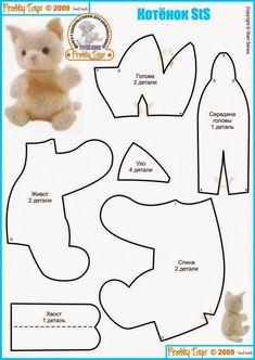 Cats Toys Ideas - kotyenok-sts - Free Stuffed Plush kitten pattern - Ideal toys for small cats Plushie Patterns, Animal Sewing Patterns, Sewing Patterns Free, Free Sewing, Doll Patterns, Sewing Stuffed Animals, Stuffed Animal Patterns, Chat Crochet, Ideal Toys