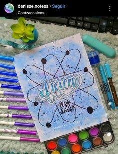 Bullet Journal Cover Ideas, Bullet Journal Banner, Bullet Journal Notebook, Bullet Journal School, Bullet Journal Inspiration, Hand Lettering Alphabet, School Notebooks, Pretty Notes, Notes Design