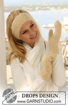 I'm saving this mitten pattern to test out at a later time...please ignore this silly stock photo lady who apparently needs to bundle up on her trip to the beach
