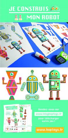 Mon jeu pour créer mon robot en papier ! Avec notre jeu « Je construis mon robot », jouez à découper et à assembler les différentes parties de votre robot en suivant ce que vous indique votre dé.
