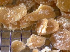Candied Ginger recipe from Alton Brown via Food Network   Going to try this as an anti-nausea aid. No idea if it'll work, but ginger seems to be a common element in those.