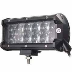 60w 12 leds light bar floodlight/spot lightt work light atv off road driving lamp dc10-30v Sale - Banggood.com Led Work Light, Work Lights, Off Road Trailer, Trailers For Sale, Electric Scooter, Car Audio, Bar Lighting, Interior Accessories, Atv
