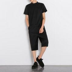 36.10$  Buy now - https://alitems.com/g/1e8d114494b01f4c715516525dc3e8/?i=5&ulp=https%3A%2F%2Fwww.aliexpress.com%2Fitem%2F2016-New-Fashion-Zipper-Designer-Drop-Crotch-Military-Cargo-Pants-Mens-Jumpsuit-Overalls-Joggers-Trousers-Black%2F32733210969.html - 2016 New Fashion Zipper Designer Drop Crotch Military Cargo Pants Mens Jumpsuit Overalls Joggers Trousers Black Size M-XL
