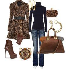 black & leopard & denim
