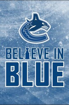 Believe in Blue Vancouver Canucks iPhone Wallpaper