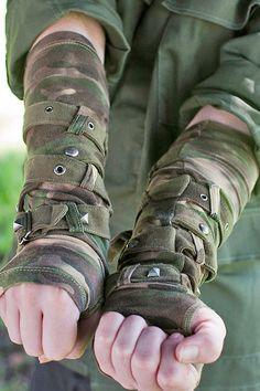 TRIPP NYC CAMO CAMUFLAGE ARMY PUNK GOTHIC EMO CYBER ARM WARMERS GOTH STEAMPUNK #TRIPPNYC #ARMWARMERS