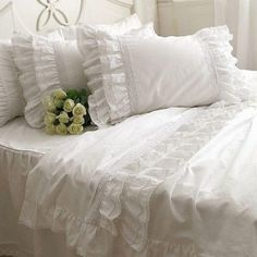 bedspread cotton Picture - More Detailed Picture about Ruffle wed princess bed set,twin full king queen fancy elegant fairyfair white lace cotton bedspread pillow case comforters sets Picture in Bedding Sets from secret garden201307. Aliexpress.com | Alibaba Group