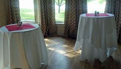 Elliott House: sample set-up in music room for business reception