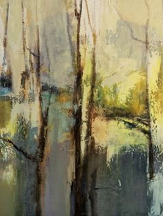 "Joan Fullerton Paintings: Contemporary Abstract Mixed Media Painting ""Spring..."