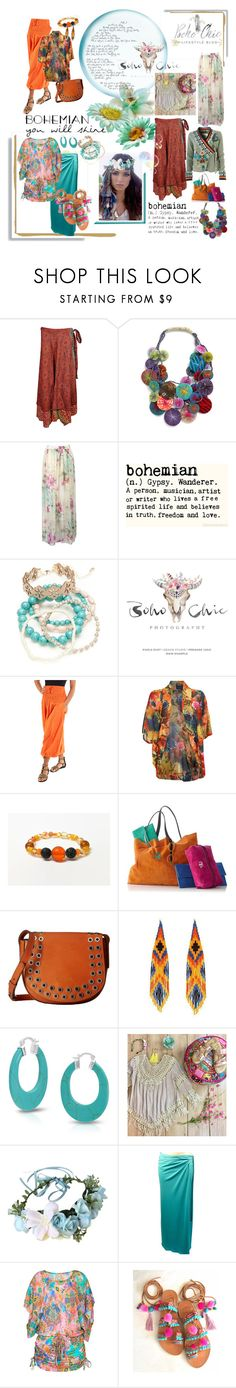 """Bohemian ... you"" by lawvel ❤ liked on Polyvore featuring Karma Living, WithChic, Red Camel, Pilot, Mark & Graham, Frye, Forest of Chintz, Bling Jewelry, Umgee and D&G"
