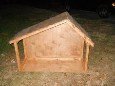 A stable for an outdoor nativity that the hubby made! LOVE this...wish I had a nice outdoor nativity so he could build me one!