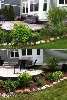 Before and after landscaping on pinterest landscape for Affordable landscaping