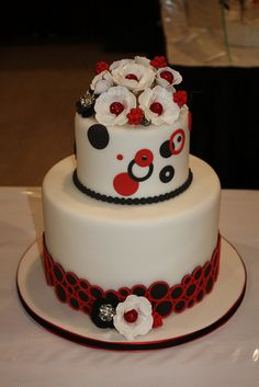 Looks really cool and funky. I think it would be better without the flowers on the bottom tier