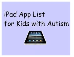 List of iPad Apps for Kids with Autism  Re-Pinned by Penina Penina Rybak MA/CCC-SLP, TSHH CEO Socially Speaking LLC YouTube: socialslp Facebook: Socially Speaking LLC www.SociallySpeakingLLC.com Socially Speaking™ App for iPad:  http://itunes.apple.com/us/app/socially-speaking-app-for/id525439016?mt=8