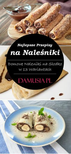 Polish Recipes, Crepes, Dessert Recipes, Food And Drink, Gluten Free, Vegetarian, Healthy Recipes, Dishes, Baking