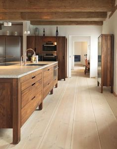 Kitchen // Wood beautifully crafted.