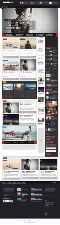 Solidus - Clean Magazine Wordpress Theme #web #wptheme Live Preview and Download: http://themeforest.net/item/solidus-clean-magazine-theme/11122379?ref=ksioks