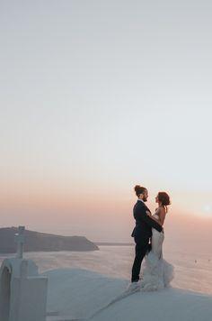 Destination Wedding at the Remezzo Villas Santorini