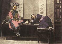 Opium Smoking - 19th Century China