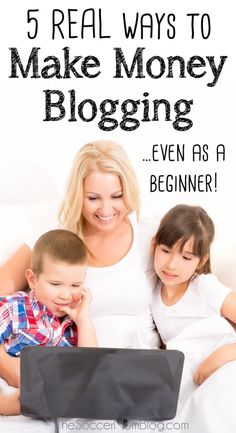 Five REAL ways to start making money blogging -- even as a beginner! These are…