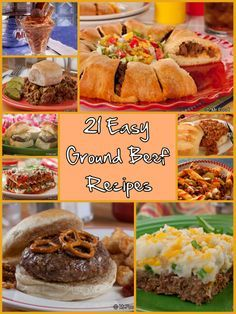 21 Easy Ground Beef Recipes - A great go-to dinner guide