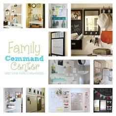 Get ready for Back 2 School with these great Family Command Centers!