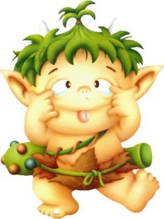 klik for at se i normal størrelse Cute Clipart, Movie Clipart, Fantasy Images, Fantasy Art, Cute Images, Cute Pictures, Troll, Art Mignon, Baby Drawing