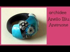 Tutorial | Polymer Clay | Anello Blu Anemone Flower | DIY Ring - YouTube