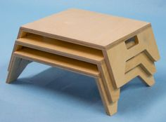 Stackable Tables, Natural Finish