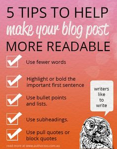 5 tips to help make your blog post more readable