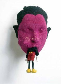 Textiles, Art Picasso, Modern Art, Contemporary Art, Political Art, High Art, Doll Parts, Wall Sculptures, Mixed Media Art
