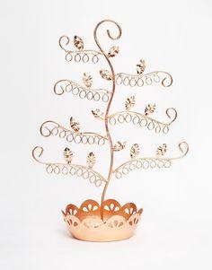 Bild 1 von Schmuckständer mit Blumen aus Kupfer