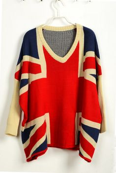 Union Jack Long Sleeve Sweater