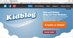 Kidblog is a great way to teach kids how to write online, manage posts, communicate well with others digitally... FREE guide to send home with parents explaining basic usage.