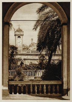 1925 Garden Italia View Palazzo Doria Genoa Genova Genua Italy Kurt ITALY
