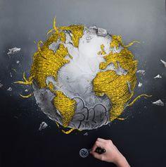 This artist is AMAZING! Earthmergency - PEZ Artwork