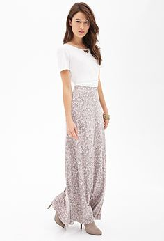 Blurred Floral Maxi Skirt | FOREVER21 - 2000059757